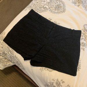 Black lace print shorts from LOFT.